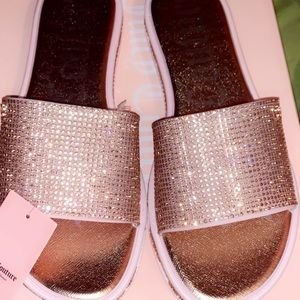 Juicy Couture Rose Gold Slides